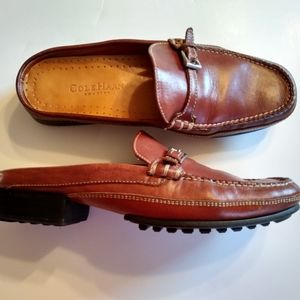 Cole Haan Country Brown Leather Mules Sz8